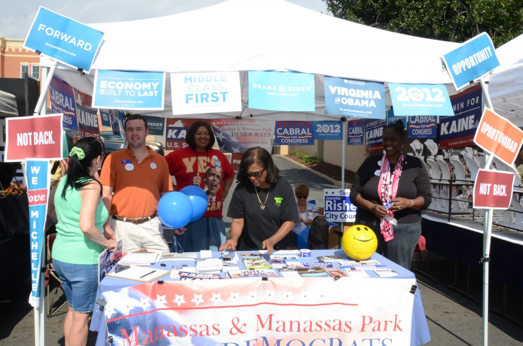 Booth at Manassas Fall Jubilee 2012